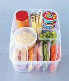 Quick grab healthy snacks organized in the fridge for kids (or yourself)