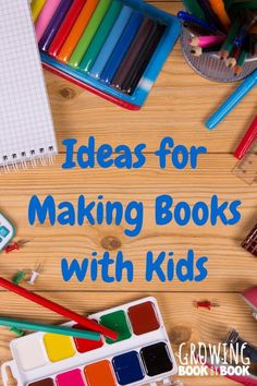Creative book making ideas for kids that will encourage kids to write and illustrate.  Even includes a video of my favorite book binding method for kids.