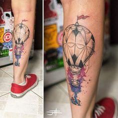 Anchored balloon! #tat #tattoo #tatuagem #ink #inked #johndois #equilattera…