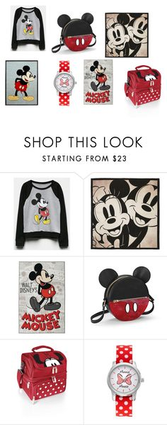 """mickey obsession"" by thedrewcrew ❤ liked on Polyvore featuring Mighty Fine, Disney, The Bradford Exchange and Picnic Time"
