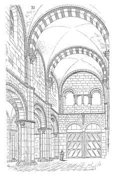 Nef.eglise.Vezelay Architecture Classique, Architecture Antique, Romanesque Architecture, Church Architecture, Classical Architecture, Beautiful Architecture, Croquis Architecture, Architecture Romaine, Architecture Religieuse