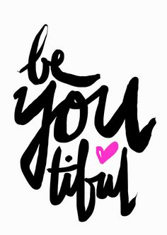Be YOU tiful - hand lettering by Maiko Nagao