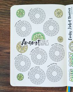 August 2017 - Ring Mini Goals  These are special items that I want to make sure I get done in August, so they each get a Ring Mini Goal to track it! I color in that block with the day's color after completing each task.  These are my Ring Mini Goals stickers from my shop, since I found out quickly that I can't free-hand perfect circles. 😊 Link is above in my bio!