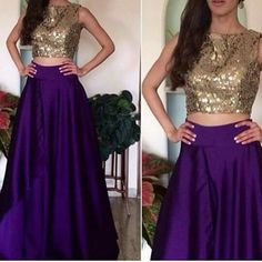 A cool simple lehnga cholo. The plain lehnga goes perfectly with the choli/crop top Western Dresses, Indian Dresses, Indian Outfits, Ethnic Outfits, Indian Clothes, Indian Bridal Lehenga, Red Lehenga, Lehenga Choli, Lehenga Style