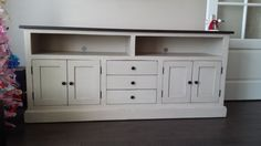 TV Stand 6' Long / Vintage TV Console / Shabby Chic TV Stand on Etsy, $1,627.15