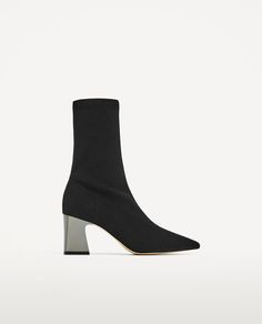 Image 2 of FABRIC HIGH HEEL ANKLE BOOTS WITH STRETCH from Zara
