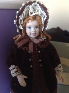 112 scale miniature porcelain doll by PilarCalleMiniatures on Etsy, €70.00