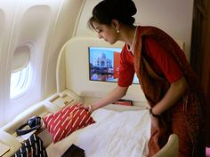 Air India stewardess inflight service