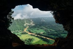 Cave, View, River, Valley, Out Of, Stream, Water