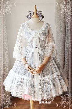 0174906dbb7 Cheap Summer Fragrance Lace Hime Sleeves Magic Tea Party Lolita Surface  Layer Dress Sale At Lolita Dresses Online Shop. We provide Lolita products  with ...
