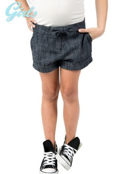 Denim Short With Bow – Chelsea Apparel