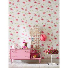 BuyScion Felicity Flamingo Wallpaper, 111277 Online at johnlewis.com