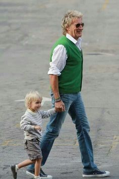 Rod Stewart and his son