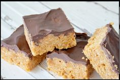 PEANUT BUTTER RICE CRISPY SQUARES | Cook Use brown rice crispies to make gf