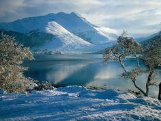 Western Highlands of Scotland in winter