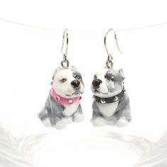American Pit Bull Terrier Dog Lover Earing 00003 | madamepomm - Pets on ArtFire @Lori Augustus Noll