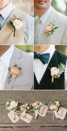 Ένα κομμάτι του στολισμού του γάμου που αφήσαμε με τις νεραγκούλες είναι το κομμάτι του στολισμού του γαμπρού και της νύφης. Ο γαμπρός (αλλά και ο κουμπάρος) μπορεί να χρησιμοποιήσει τις νεραγκούλε…