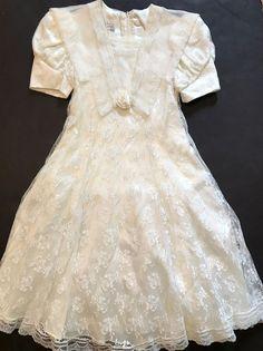 Jessica McClintock Girls Lace Dress Ivory Sailor Size 10 Fancy Wedding Party    eBay