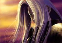 Final Fantasy VII - Sephiroth. He looks like  he needs to get a little more sun.