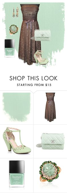 """Chocolate mint🍪🍪🍪"" by chauert ❤ liked on Polyvore featuring BCBGMAXAZRIA, Chanel, Butter London and LE VIAN"