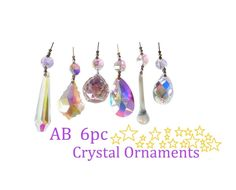 5 Pink 80mm Icicle Chandelier Crystal Prisms Suncatchers Ornaments