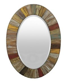 Look at this Natural Colors Wood Framed Wall Mirror on #zulily today!