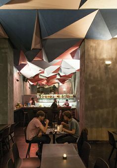 """""""If dogs run free"""" is more than just a bar. It's a meeting place for the exchange of ideas about art and design. Guests can enjoy a drink on our Kuskoa chairs"""