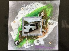 """""""My first car"""" scrapbook page First Car, Scrapbook Pages, Cards, Painting, Painting Art, Paintings, Maps, Smash Book Pages, Painted Canvas"""