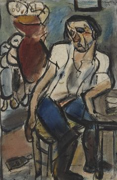 "Georges Rouault - ""Les réfugiés"", 29 x 20 cm, Sotheby's Figure Painting, Painting & Drawing, Laide, French Artists, Vincent Van Gogh, Textile Design, Impressionist, Art Day, Les Oeuvres"