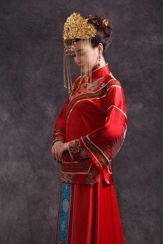 Chinese Wedding Crown Jewelry Bridal Headdress - YannyExpress  - 1