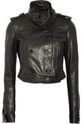 BURBERRY PRORSUM  Cropped leather biker jacket