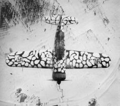 """Finnish fighter """"Brewster» B-239 in the winter camouflage."""