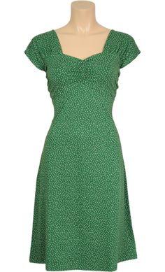 Vintage inspired summer heidi dress in green - King Louie SS2014