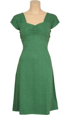Vintage inspired summer heidi dress in green - King Louie SS2014
