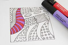 Basic zentangle step by step...easy for kids!