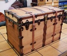 Great site for tips on how to refinish old wooden trunks! Anything from removing canvas to replace hardware...