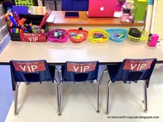 A VIP table for the students with good behavior. Love this idea.