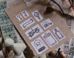 Lin Chia Ning  viejo veces sello conjunto PRE por PaperPlusCloth