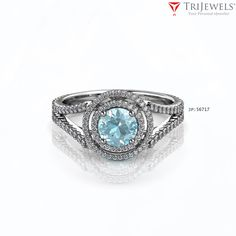 We are in halo heaven with our new Double Halo Diamond engagement ring!  - EXTRA 10% OFF #aquamarine #diamond #halo #engagementring #finejewelry #jewelryforwomen #giftforher #love #gift #trijewels