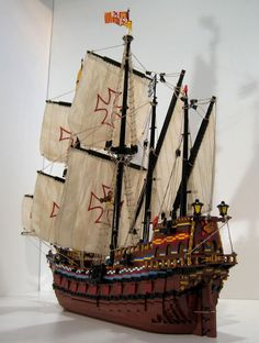 90d   Captain Green Hair and Bonaparte present: The Spanish Imperial Galleon Nuestra Señora de la Concepción    Constructed partly in the world famous Amst...