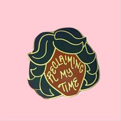 """One pin measuring a little under 1.25"""" x 1.25"""" with a lapel pin butterfly clutch pin back.The hard enamel is glossy with the gold metal shining through. Each pi https://bulletin.co/products/maxine-enamel-pin-1"""