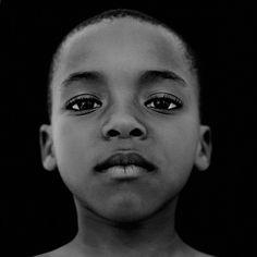 Jim Plasman - African Boy - art print op dibond