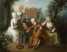 Frederick, Príncipe de Gales y sus hermanas en el Palacio de Kew,