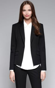 The Theory brand is characterized by tailored silhouettes, clean lines, and flattering shapes. We love the versatility of Theory's designs – the pieces are a great base for a sharp work wardrobe, and we can easily dress them down to show a trendier, edgier style!