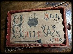 All Hallows' Eve Pinkeep Drawer ****SOLD**** | Primitive Handmades Mercantile