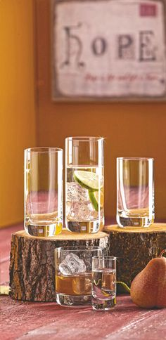 Longdrinkglas Cocktails, Alcoholic Drinks, Schott Zwiesel, Table Decorations, Furniture, Home Decor, Corning Glass, Craft Cocktails, Decoration Home