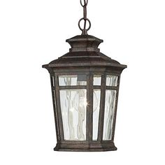Hampton Bay 1-Light 7 in. Dark Ridge Bronze Outdoor Chain Hung Lantern Hampton Bay, Amazon, $65