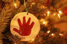 Christy Lately: DIY Handprint Ornaments