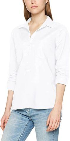 Damenbluse  Moderne Leinenbluse mit aufgesetzten Taschen auf der Brust. Der Ärmel kann hochgekrempelt und mit Hilfe einer Lasche fixiert werden. Der V-Ausschnitt und die Knopfleiste mit rippsband verleihen der Bluse einen femininen Look.. Leinenbluse, V-Ausschnitt mit rippsbanddetail Langarm Verschluss: Knopfleiste 100% Viskose Bluse Pflegehinweis: Maschinenwäsche Modellnummer: 218123438-O9009  Bekleidung, Damen, Tops, T-Shirts & Blusen, Blusen & Tuniken Shirt Bluse, Blouse, Long Sleeve, Tops, Sleeves, Fashion, Neckline, Summer, Clothing