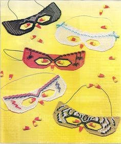 Halloween Masks Plastic Canvas Patterns by needlecraftsupershop, $3.00